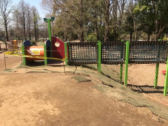 柏の葉公園のアスレチック