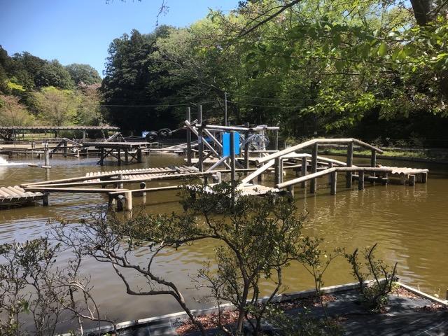 野田市清水公園のアスレチック