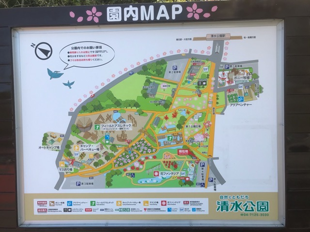 清水公園の園内マップ